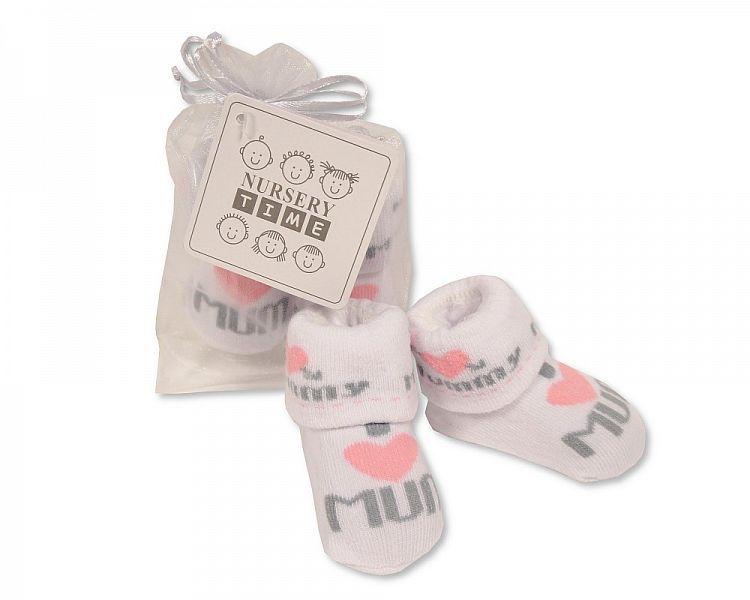 BW2212, Baby Socks in Mesh Bag - I Love Mummy - Girls  £0.65.  PK12..