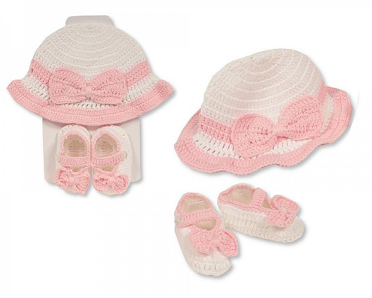 GP953, Baby Hat and Booties Set - Girls £4.95.  PK6...