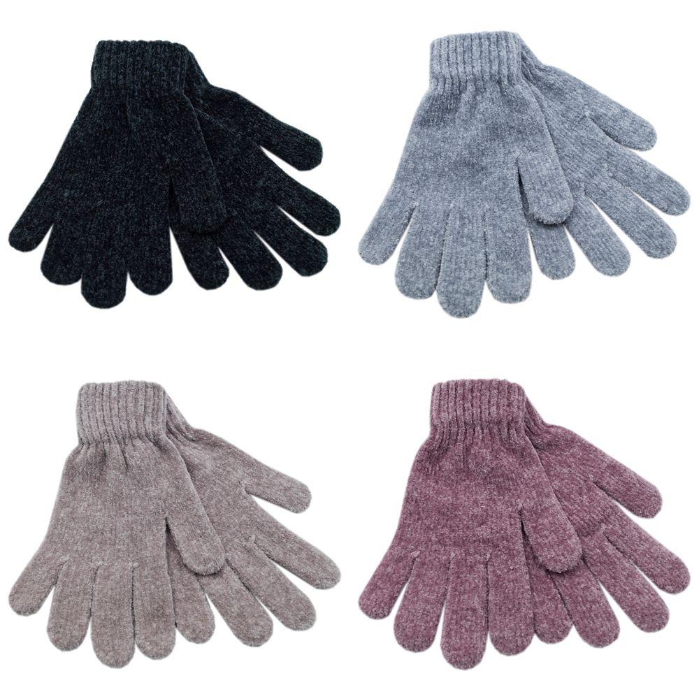 GL148, Ladies chenille gloves £0.85. 1 dozen...