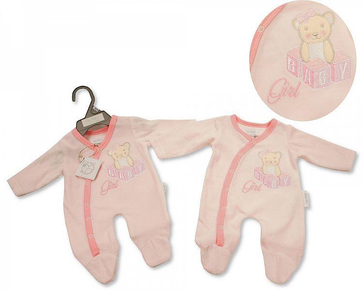 *PB0082, Premature Baby Girls Velour All in One - Baby Girl £3.95.  PK6...