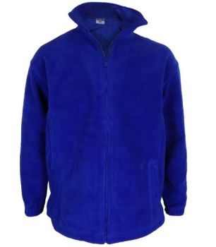 *MOW0018RB, Adults Zip Up Fleece Royal Blue £3.75.  pk12..
