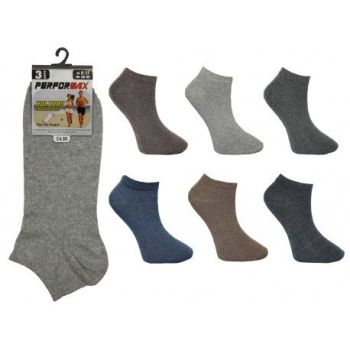 SL1008, Mens trainer socks in assorted colours.  1 dozen.....