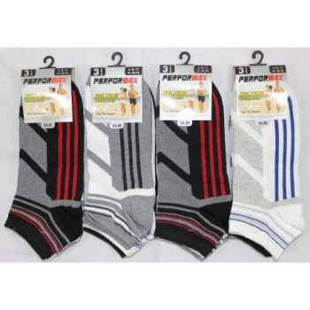 SL1003, Mens design trainer socks.  1 dozen.....