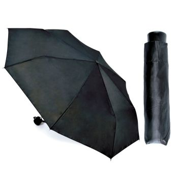 UU0072, Supermini Umbrella - Black £1.65.  pk12...