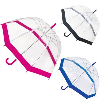 UU0044C, Clear Dome Umbrella £2.10.  pk12..