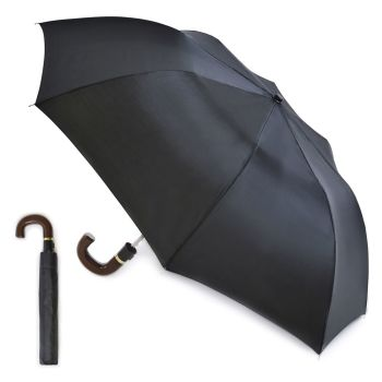 UU0098A, Mens Auto Folding Umbrella- Black £2.25.  pk12..
