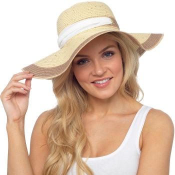 GL728, Ladies summer hat with bow £3.50.  pk12..