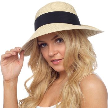 GL734, Ladies summer hat with bow £2.65.  pk12..