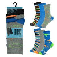 SK807, Boys 3 in a pack design socks £0.85.  12pks...