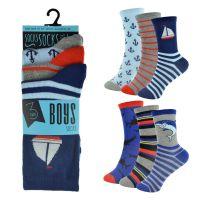 SK808, Boys 3 in a pack design socks £0.85.  12pks...