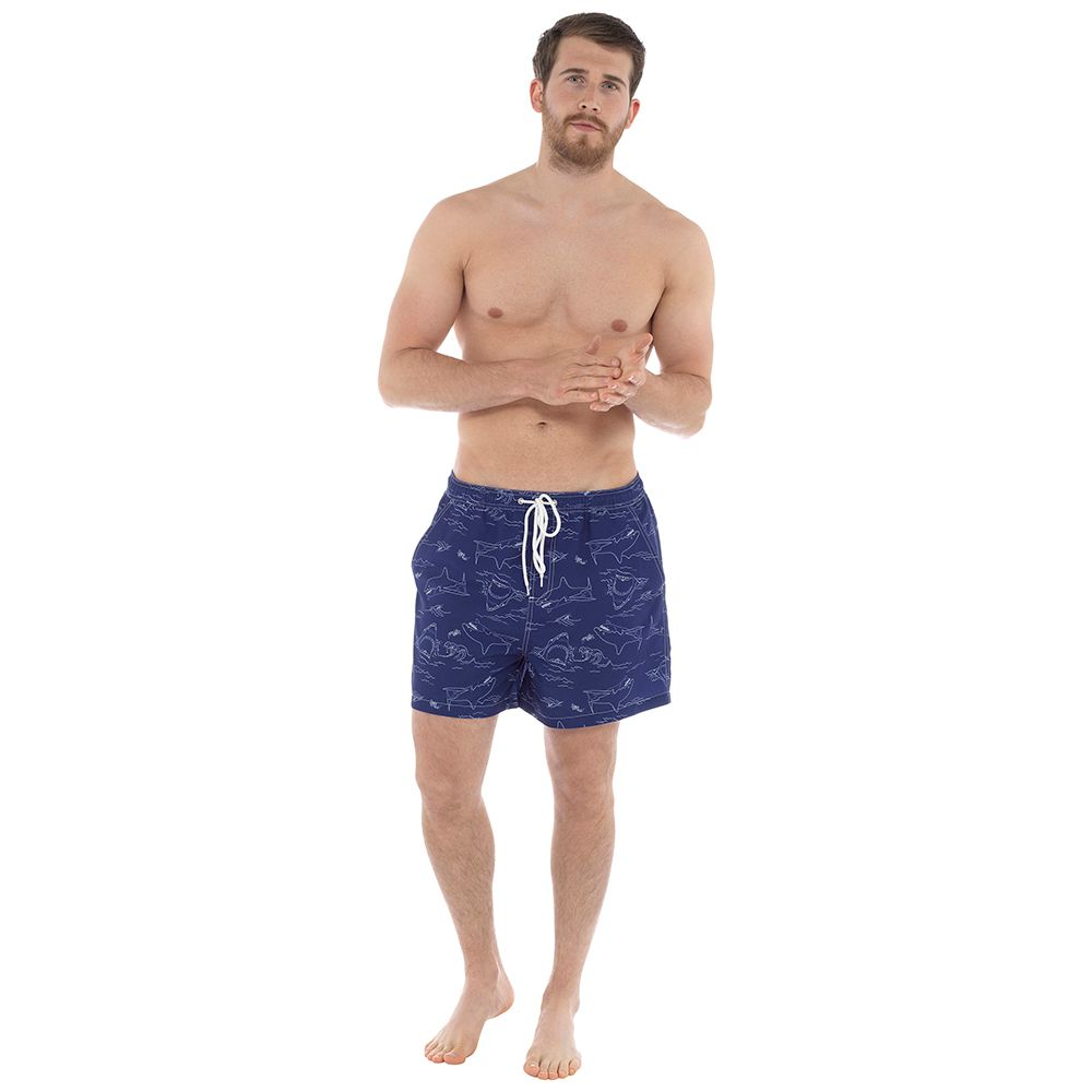 *HT088, Mens Shark Print Swim Short £4.25. pk24...