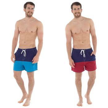 *HT089, Mens Colour Block Swim Short £4.35.  pk12..