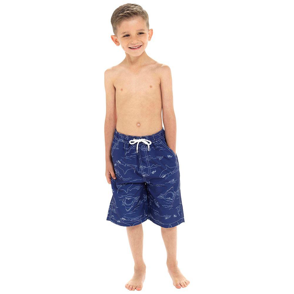 *LN132, Boys Shark Print Swim Short £3.85.  pk18...
