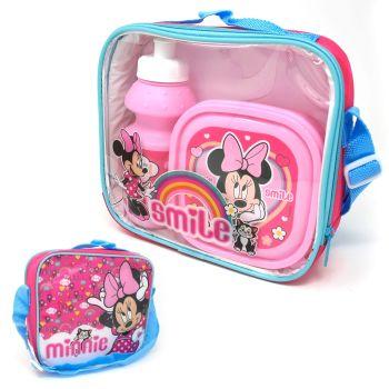 "Code:8492, Official ""Minnie"" 3 pcs lunch bag set £3.65.  pk24..."