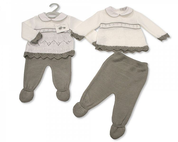 *BW064, Knitted Baby 2 Pieces Pram Set £9.50.  pk6..