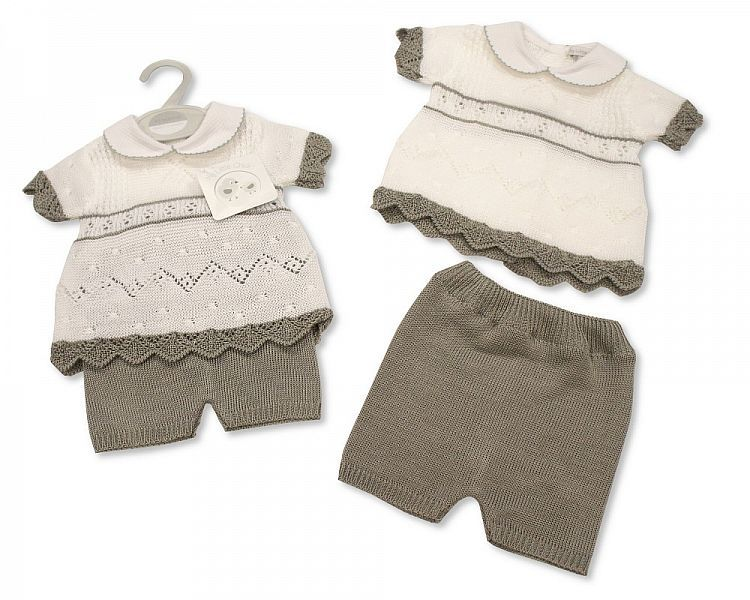 BW063, Knitted Baby 2 Pieces Set £9.50.  PK6..