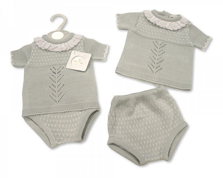 BW061, Knitted Baby 2 Pieces Set £9.90.  PK6..