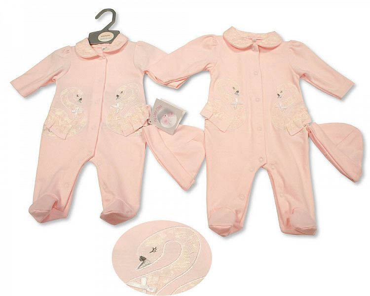 BIS2292, Baby Girls All-In-One with Lace and Hat £6.40.  PK6...