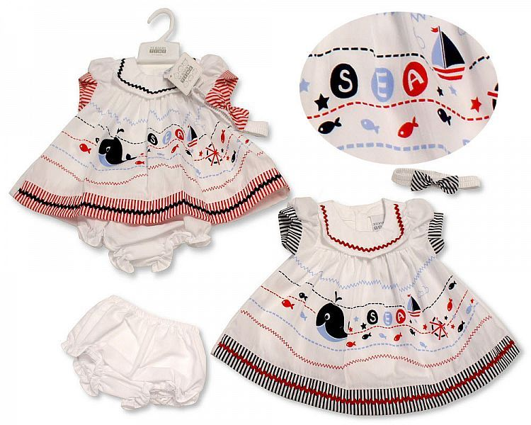 BIS2237, Baby Dress - Sea £4.45.  PK6...