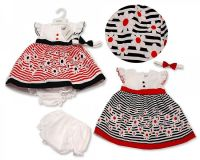 BIS2239, Baby Dress - Stripes and Flowers £4.65.  PK6...