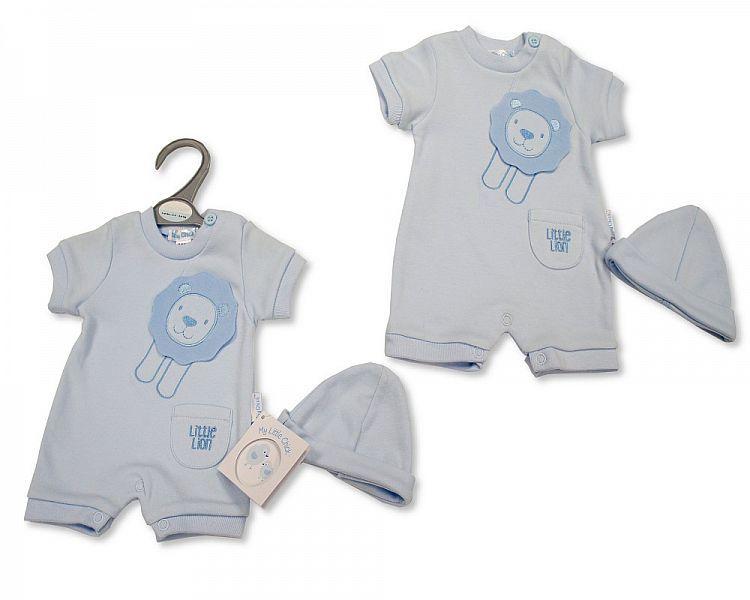 PB540, Premature Baby Boys Romper with Hat - Little Lion £4.95.  PK6...