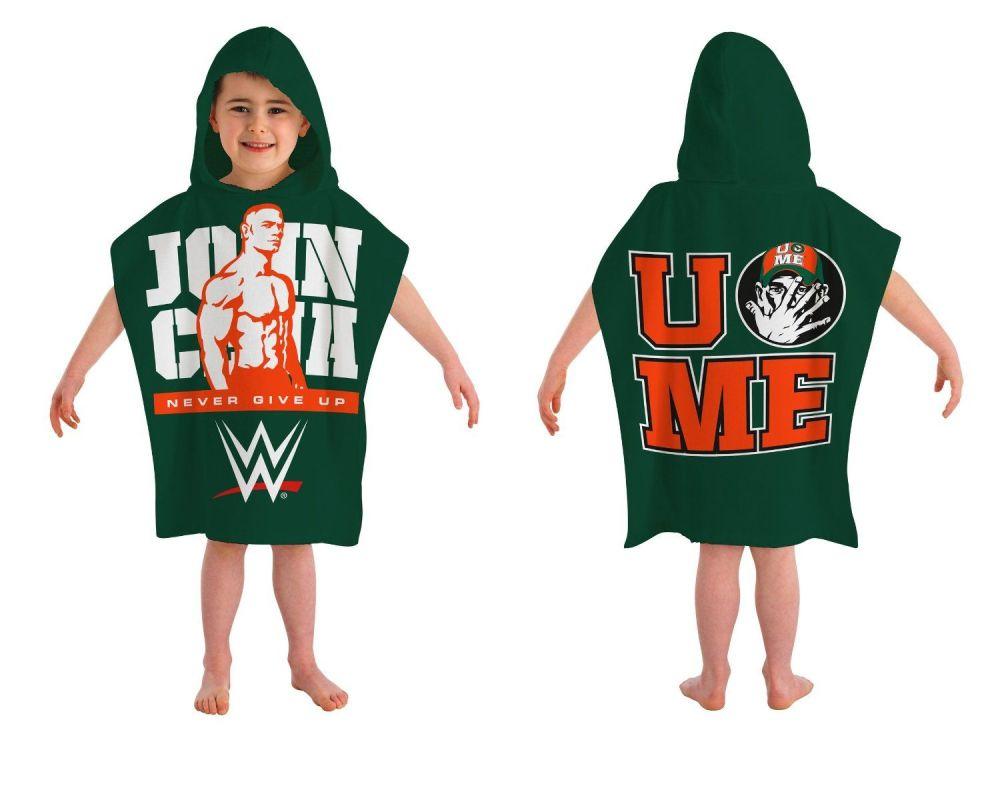WWE156, Official WWE John Cena Hooded Poncho Towel £5.25.  pk6..