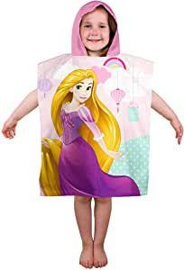 PRIN2156, Official Princess Enchanting Hooded Poncho Towel £5.25.  pk6..
