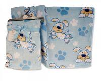 BW1023, Baby Boys Printed Wrap - Doggy £2.95.  PK3..