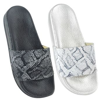 FT1695, Ladies Python Print Pool Slide £3.25.   pk36...