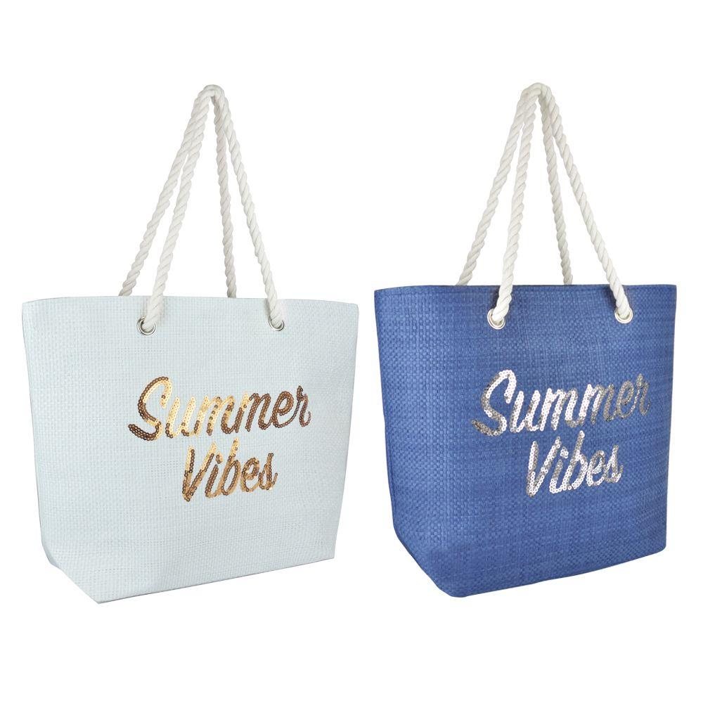BB1061, Paper Straw Bag - Summer Vibes £3.95.  pk6..