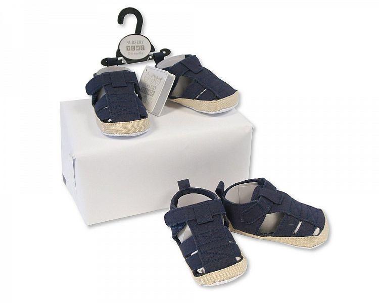 BSS490, Baby Boys Sandals - Navy £2.25.  PK8..