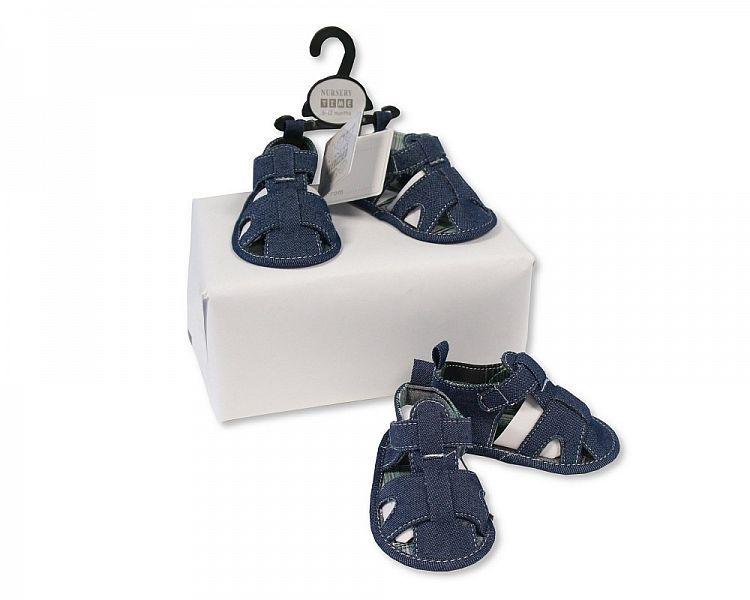 BSS488, Baby Boys Sandals - Denim £2.25.  PK8...