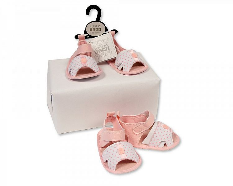 BSS485, Baby Girls Sandals - Spotted £2.25.  PK8...