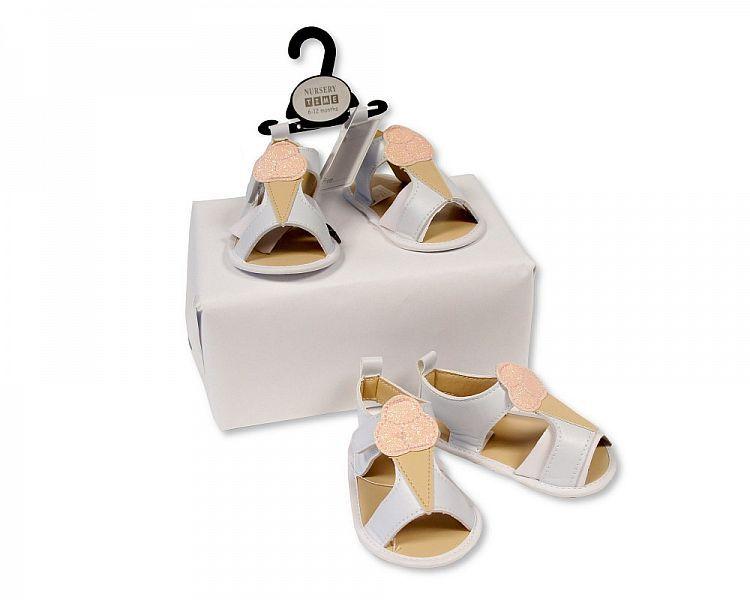 BSS484, Baby Girls Sandals - Ice Cream £2.25.  PK8..