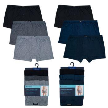 """BR197, """"Tom Franks"""" Brand Mens 3 pack Plain Jersey Boxer Short £3.00.  20pks..."""