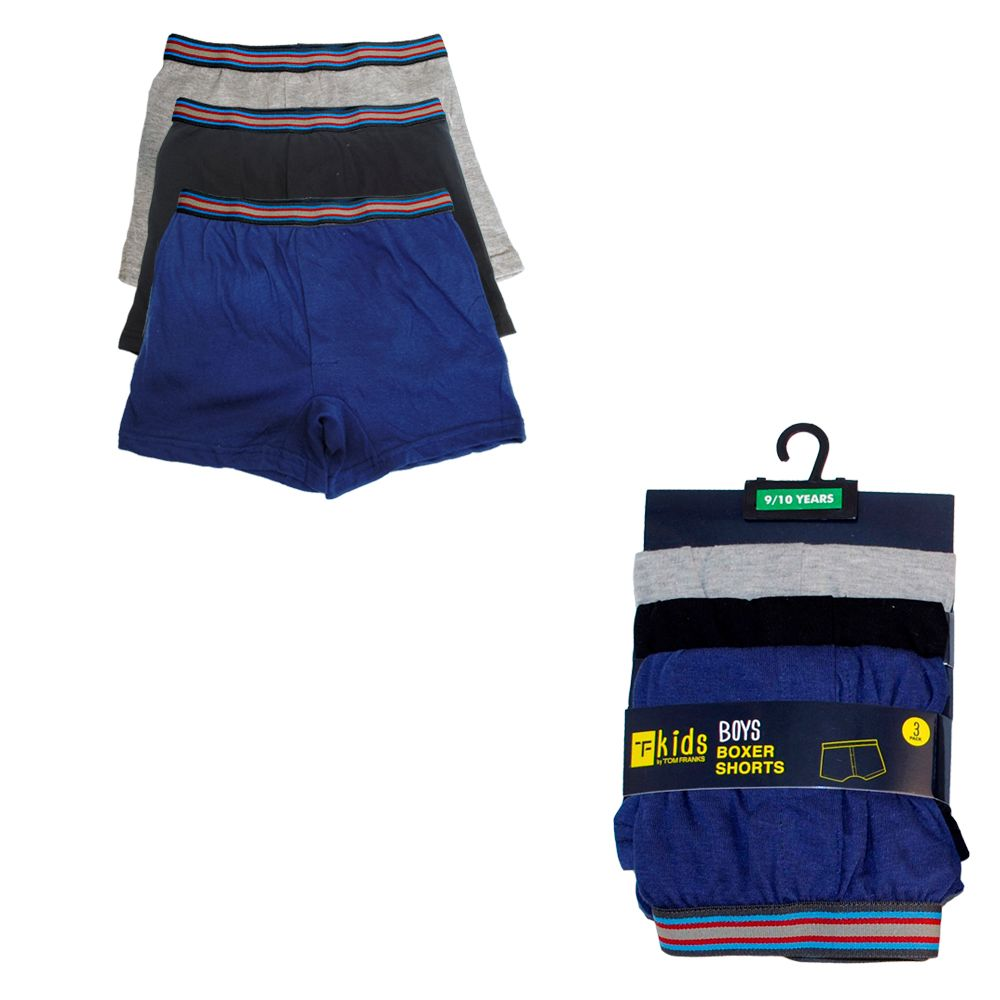 BR207, Boys 3 in a pack boxer shorts £2.35.  12 packs.....
