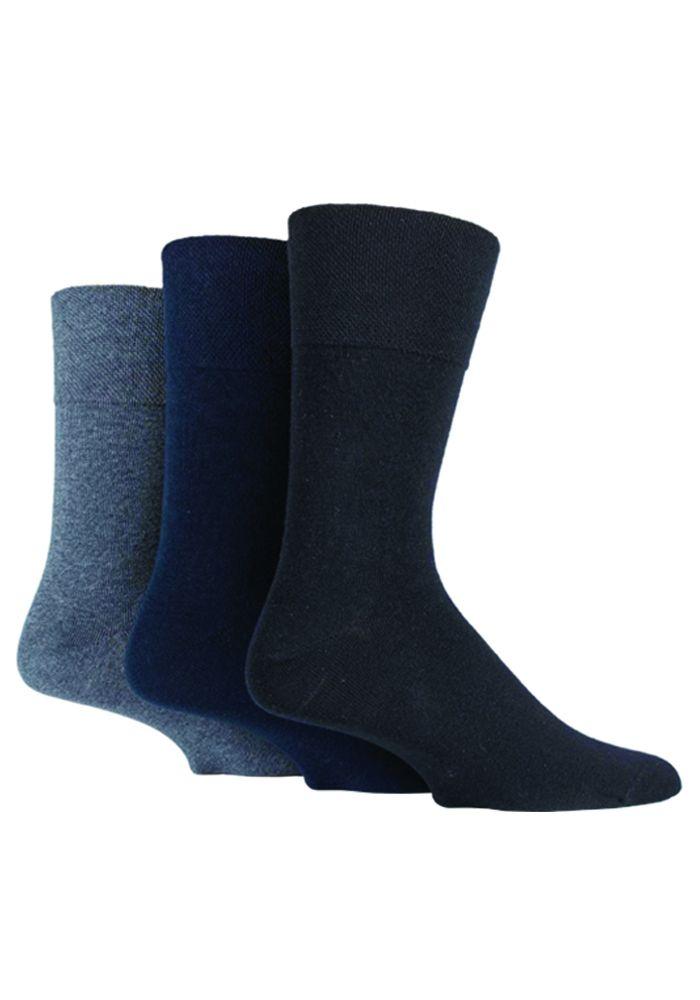 SOMRD02, Mens Diabetic Gentle Grip Socks- Dark Assorted.  1 dozen..