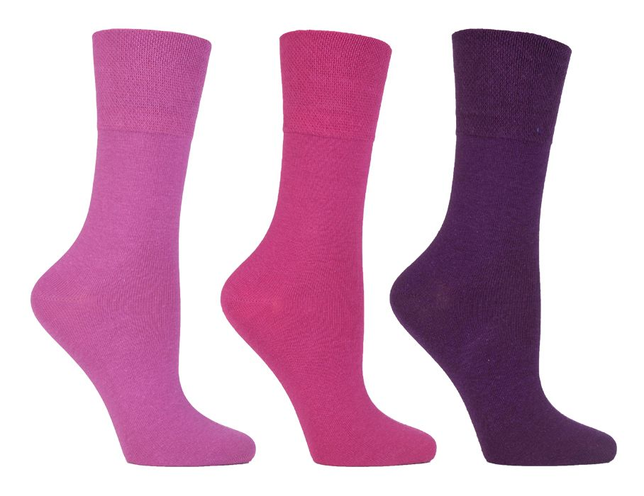 SOLRD34, Ladies Diabetic Gentle Grip Socks.  1 dozen...