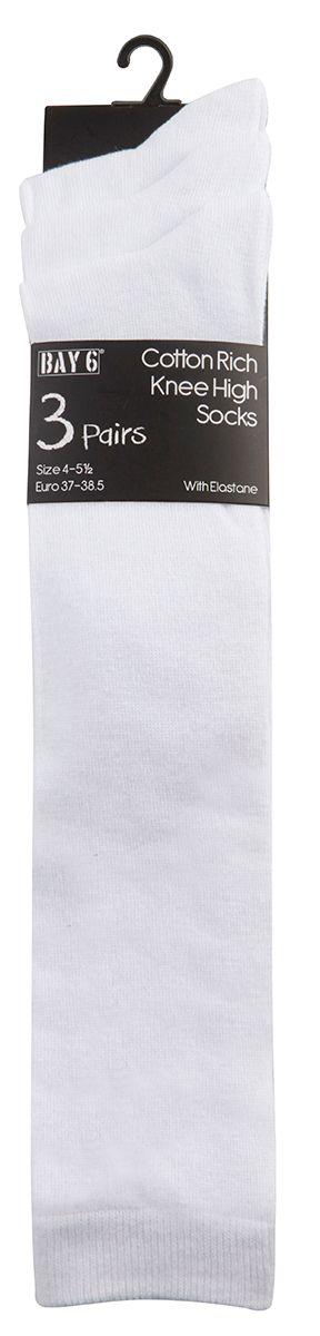 43B427, Girls 3PK Knee High Socks- White £1.70.   12PKS...