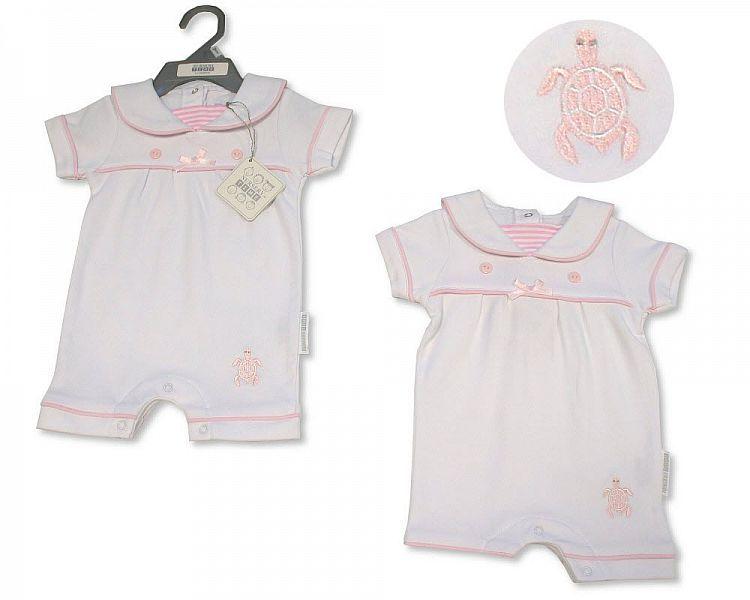 BIS2308, Baby Girls Romper - Little Swimmer £5.25.  PK6..