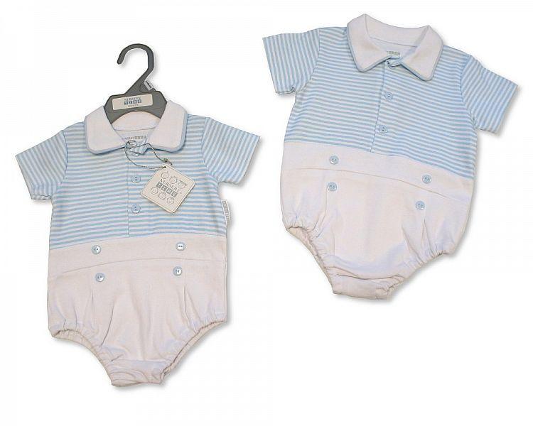 BIS2303, Baby Boys Romper - Little Swimmer £4.50.  PK6..