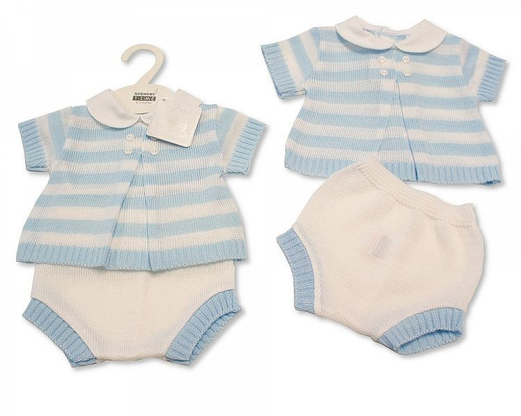 BW037, Baby Boys Knitted 2 Pieces Set £10.80.  PK6..