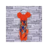 FD3ORANGE, Girls Orange Tropical Dress £3.95.  pk5...