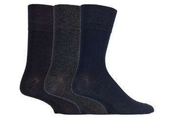 SOMRM02, Mens Bamboo Gentle Grip Socks- Dark Assorted.  1 dozen..