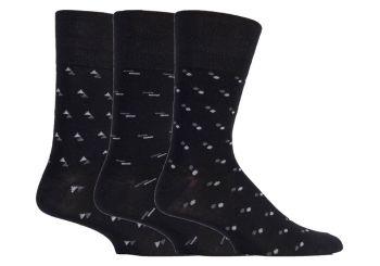 SOMRM04, Mens Bamboo Gentle Grip Design Socks.  1 dozen..