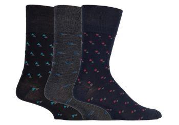 SOMRM05, Mens Bamboo Gentle Grip Design Socks.  1 dozen..