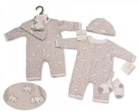 *BIS2315, Baby All-In-One with Hat and Socks - Elephant/ Giraffe £4.95.  PK6..