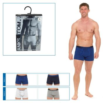 "BR415, ""Tom Franks"" Brand Mens 2 in a Pack Keyhole Boxers in PVC Box £3.00.  20pks.."