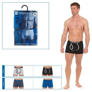 "BR406A, ""Tom Franks"" Brand Mens 2 in a pack Keyhole Boxers in a PVC Box £2.75.  20pks..."