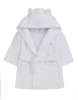 18C204(0-6), Baby Hooded Dressing Gown- White £5.05.  pk10....